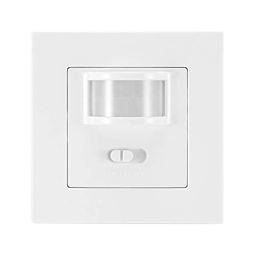 Sunsbell Interruptor Sensor Movimiento, Control del Interruptor Conmutadores de la Luz Infrarroja IR de la Seguridad del Detector de Movimiento con Conmutador de Encendido/Apagado/PIR