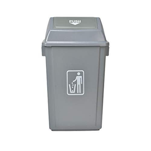 QTBH Trash Can Dustbin Commercial Outdoor Plastic Shake Cover Trash Can Health Hotel Community Classification Trash Can 4 Models Optional Waste containers Wastepaper basket (Size : 42L)