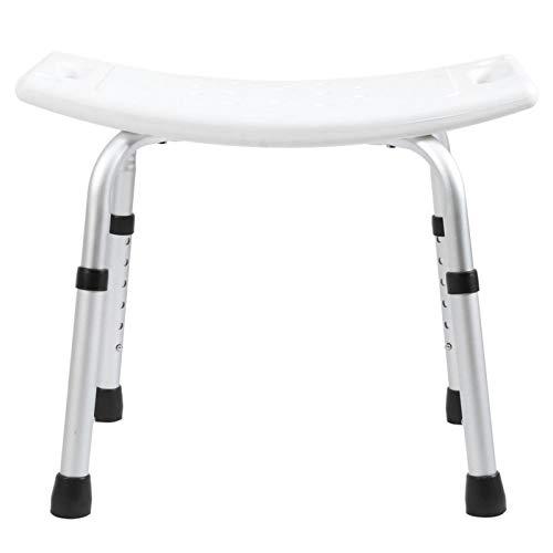 FOLOSAFENAR Silla de baño Asiento de plástico Estructura de óxido de Aluminio con Orificios de Drenaje Taburete de baño para Anciano para baño