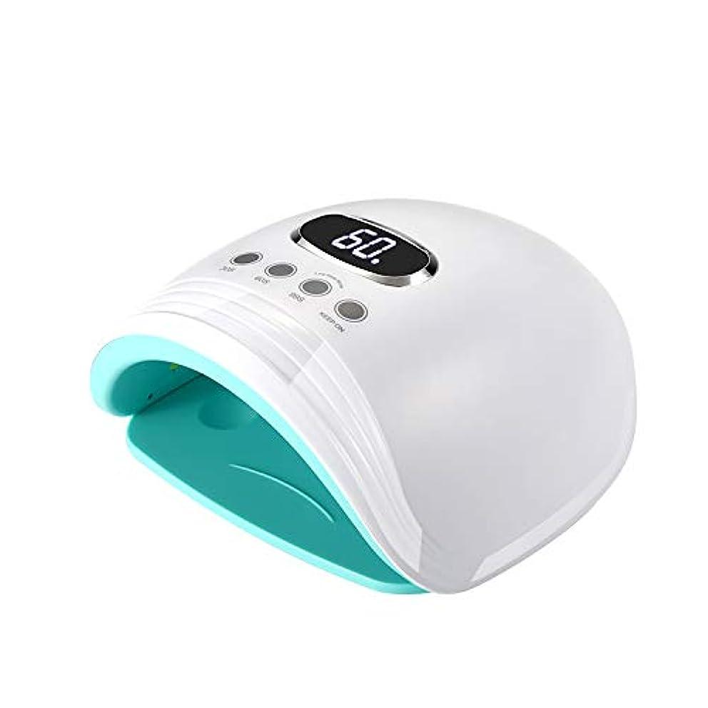 60W UV LEDネイルランプネイルドライヤー+ホワイトニングランプ、1 in 2プロフェッショナルケアドライヤー、スマートオートセンシング付きゲルパイプビルダー3タイマー設定LCDディスプレイ