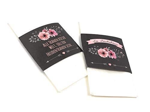 Banderolen für Freudentränen, 50 Stück, Banderolen für Taschentücher, Freudentränenbanderolen,...