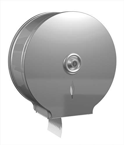 JUMBO JVD – Dispenser di carta igienica – Anti vandalismo in acciaio spazzolato