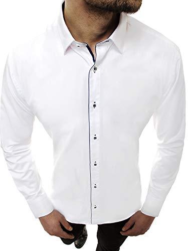 OZONEE Herren Hemd Freizeithemd Shirt Langarm Tailored Fit Flanellhemd Langarmhemd Langärmliges Slim Fit Freizeit Business Männer Jungen Trachtenhemd B/K55Z L