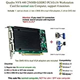 Quadro NVS 440 256MB GDDR3 PCI-Ex16, Support 4-Monitor, VGA Connection