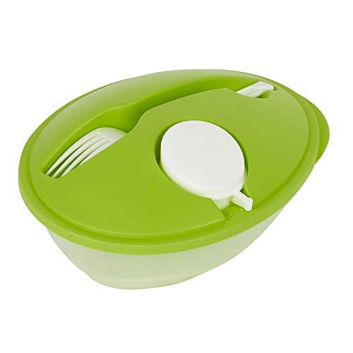 Totally Addict Lunch Box avec cuillère en Plastique - 920 ML - Vert