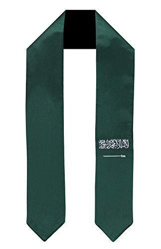 Saudi Arabia Flag Graduation Sash/Stole International Study Abroad Adult Unisex