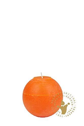 Rustic-Kugelkerzen orange 80 mm, 12 Stück
