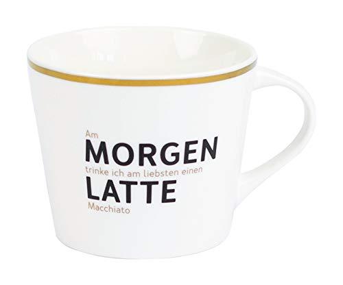 Grafik Werkstatt Kaffee-Tasse mit Echtgold | Porzellan Tasse | 420 ml | Morgenlatte