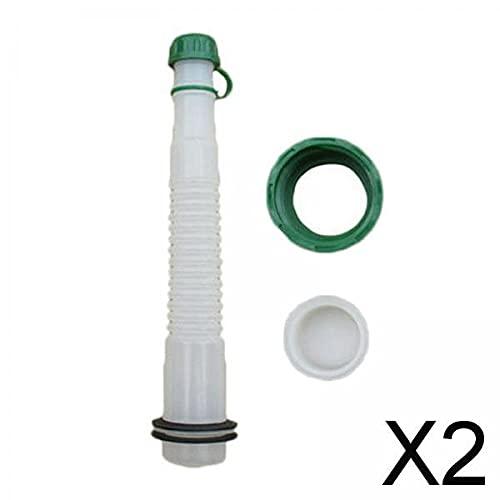 F Fityle Juego de Piezas Y Boquilla de Lata de Gas de Repuesto 2X Práctica de Boquilla de Tapa de Combustible de Gas