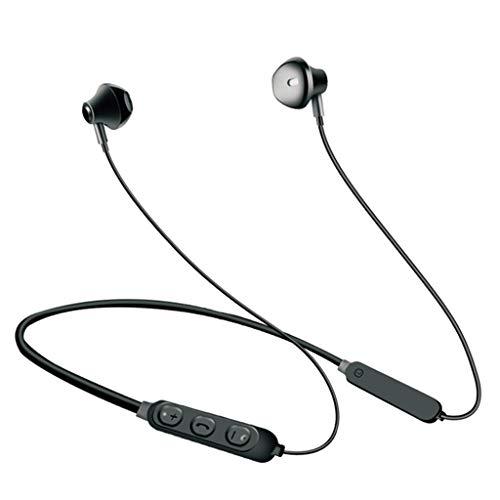 Auriculares para Juegos, Auriculares Bluetooth In-Ear Inalámbricos -5.0 Auriculares con Cancelación De Ruido   Estéreo De 5 Horas HD for Deportes, Gimnasio, Viajes (Color : Black)