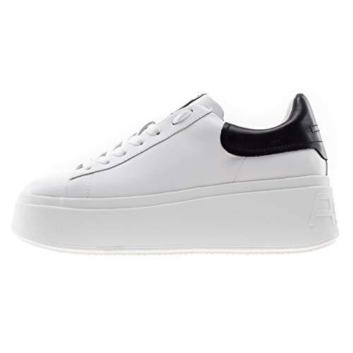 ASH Moby Sneakers Platform Bianco e Nero - 38, Bianco