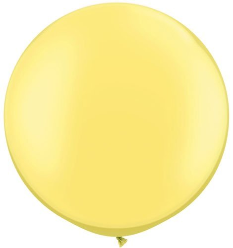 "Koyal Wholesale Round Latex Giant Balloon (Pack of 2), 30"", Pearl Lemon Chiffon"