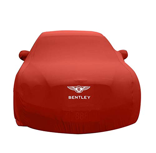 HFFTLH Compatible with car Cover Bentley Sunscreen/Mulsanne, Continental, Continental Flying Spur, Speed, GT, GT Speed, GTC high Elastic Cloth Material Close to The Body car Cover,Red,GTC