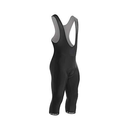 GIST - Pantaloncini da adulto con bretelle (sotto il ginocchio) Coolmax Nero XL