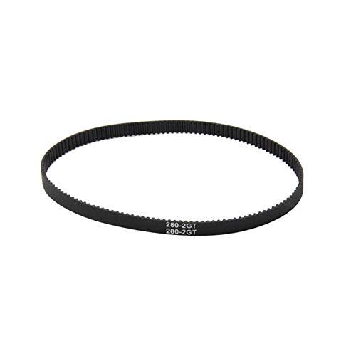 Leluo Lruirui-zahnriemen Werkzeug GT2 Closed Loop Timing Gürtel, Gummi, 2GT 6mm 3D-Drucker Teile 110/112/122/158/200/280/300/12/158/200/280/300/400/610/852 mm, Synchronriemen Teil Premium Zahnriemen
