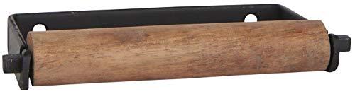IB Laursen - Toilettenpapierhalter, Klorollenhalter - Altum - Metall und Holz Look - Farbe: Schwarz