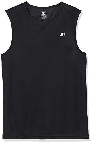 Starter Men's Sleeveless Muscle Tech T-Shirt, Amazon Exclusive, Black, Medium