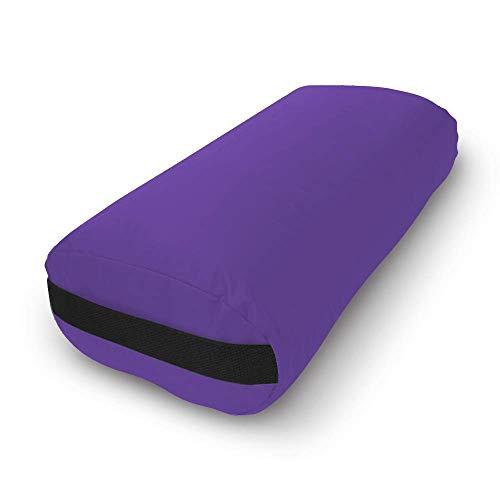 Bean Products Purple - Cotton Rectangular Yoga Bolster