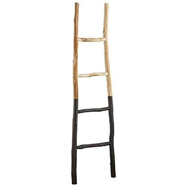 Stone & Beam Rustic Decorative Blanket Ladder, 59  H, Natural/Black