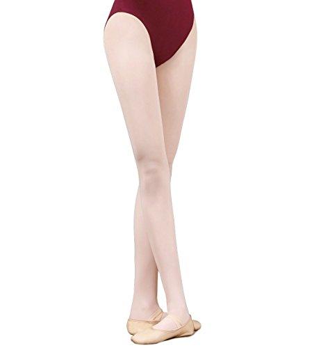 GUTANG-DC Calze per Ballerine di Danza Classica Senza Cucitura Danza Collant Balletto Bimba Donna (rosa, S(altezza:110cm-125cm))