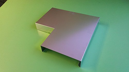 Ecke 90° Mauerabdeckung Attika Aluminium Natur 0,8 mm Zuschnitt 33 cm (klein)