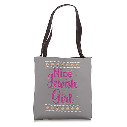 Funny Nice Jewish Girl Dreidel Hanukkah Tote Bag