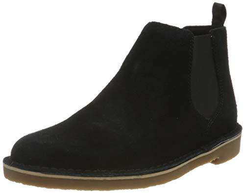 Clarks Herren Desert Boot Bushacre 3 Chelsea-Stiefel, Black SDE, 43 EU