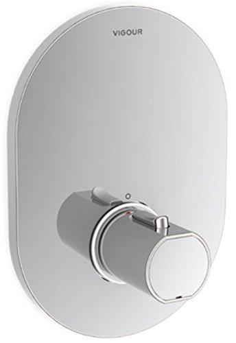 Farbset Thermostat Fertigmontageset für Universal Unterputz Thermostatbatterie Derby Style VIGOUR