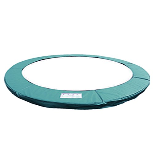 Greenbay 10FT 305cm Premium Replacement Trampoline Surround Pad | UV resistant PVC top | EPE foam(thickness:15mm, width:300mm) | Safety Guard Spring Cover Padding Pads Green for 8 poles Trampoline