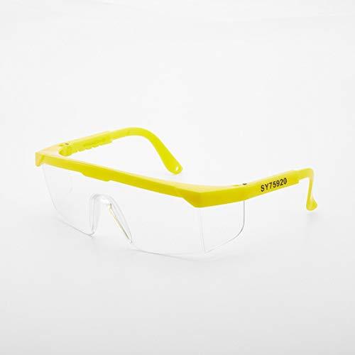 nbvmngjhjlkjlUK Gafas de protección para el Trabajo Industrial a Prueba de Golpes, Ligeras para Hombres y Mujeres, Gafas Protectoras infrarrojas antigolpes, Lentes de PC (Amarillo)