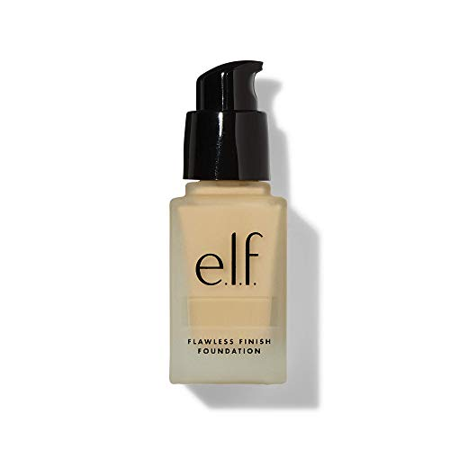 e.l.f., Flawless Finish Foundation, Lightweight, Oil-free formula, Full Coverage , Blends Naturally, Restores Uneven Skin Textures and Tones, Light Ivory, Semi-Matte, SPF 15, All-Day Wear, 0.68 Fl Oz