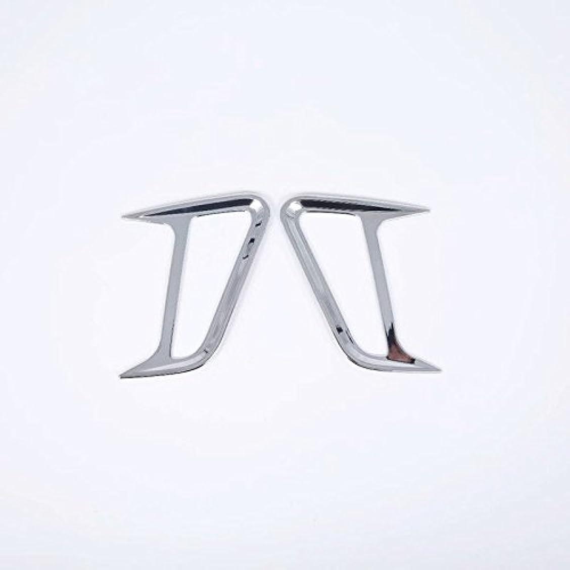 摂氏度ネーピア市民権Jicorzo - 2个ABSクローム車のサイド現代コナ2017年から2018年カーエクステリアアクセサリースタイリングのためのシグナルライトカバートリムフィットを回し