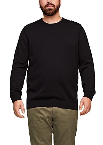s.Oliver Big Size Herren Pullover aus Feinstrick black 4XL