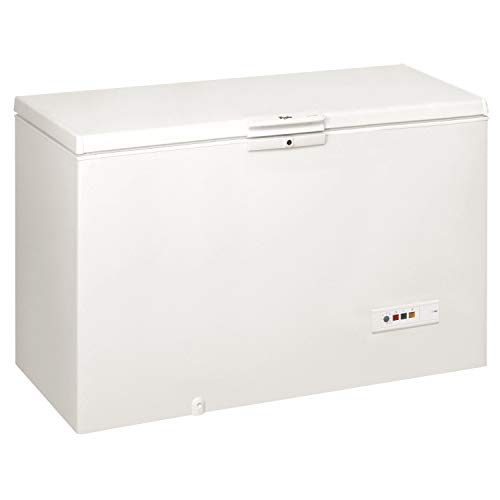 Whirlpool WHM46111 Freestanding Chest Freezer, 432L total capacity, 141cm wide, White