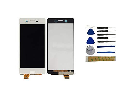 Yixi Pantalla para Sony Xperia X F5121 F5122 Pantall LCD Pantalla Táctil Blanco Repuesto de Pantalla Recambio (sin Marco)
