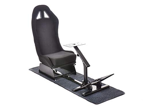 FK-Automotive FK Gamesitz Spielsitz Rennsimulator eGaming Seats Suzuka schwarz mit Teppich FKRSE17901