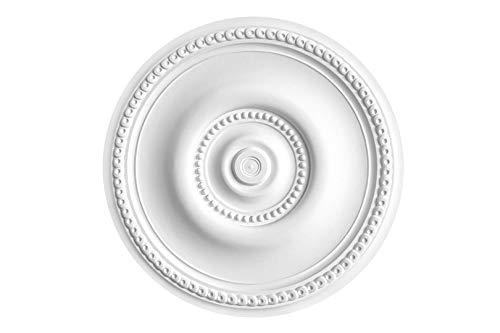 HEXIM Perfect Rosetón de estuco para techo de espuma dura de poliuretano, robusto, elemento decorativo (B3059, diámetro de 522 mm) para candelabro, reborde, medallón, decoración interior