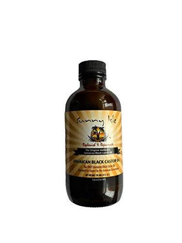 Sunny Isle Jamaican Black Castor Oil Original 100% Pure Castor Beans Oil For Hair, Eyelashes And Eyebrows 4 oz by JBC Distributors Inc
