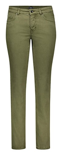 MAC Jeans Damen Melanie Straight Jeans, Grün (Military Green PPT 348R), W38/L32