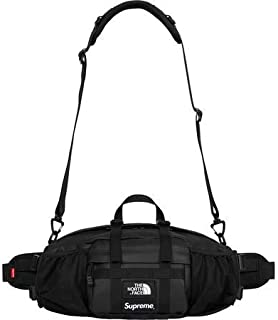 """Supreme The North Face Leather Mountain Waist Bag """" Black """" 18FW ( シュプリーム ノースフェイス レザー マウンテン ウエストバッグ """" ブラック """" 18FW)[国内正規品] (Black)"""