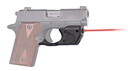 ArmaLaser Designed to fit SIG P238 P938 TR8 Super-Bright Red Laser Sight with Grip Activation