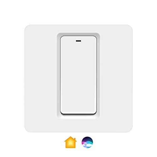 Commutateur d'éclairage intelligent Apple Homekit, Commutateur WIFI intelligent unipolaire AIMENGTE compatible avec...