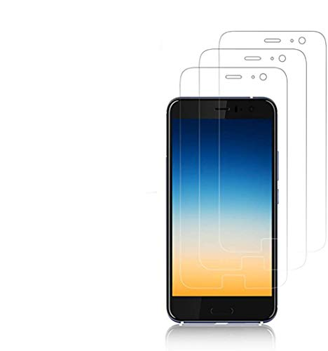 Cardana 3X HTC U11 Schutzfolie, Bildschirmschutzfolie[ Volle Abdeckung ][Einfache blasenfreie Installation] Panzerglasfolie, langlebige Folie, Kein Panzerglas Transparent