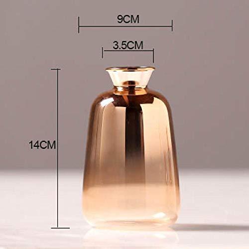 Relovsk Dekoration Vase Rauchglas Vasen Hochzeitsdekoration Figur Blumenvase Handwerk Gold Flasche Transparent Pflanzenhalter Schreibtisch Dekor Ornament-A
