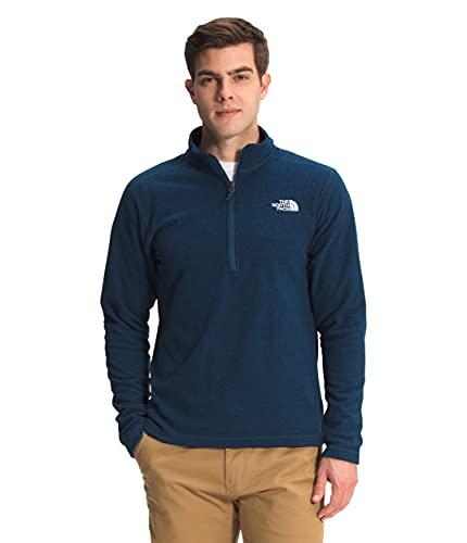 The North Face Men's Textured Cap Rock ¼ Zip Pullover Sweatshirt, Monterey Blue, Medium