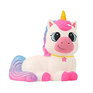 Anboor 9.1 Inches Squishies Giant Unicorn Horse Jumbo Kawaii Soft Slow Rising Scented Animal Squishies Stress Relief Kid Toys Gift 3