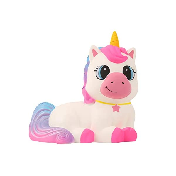 Anboor 9.1 Inches Squishies Giant Unicorn Horse Jumbo Kawaii Soft Slow Rising Scented Animal Squishies Stress Relief Kid… 3