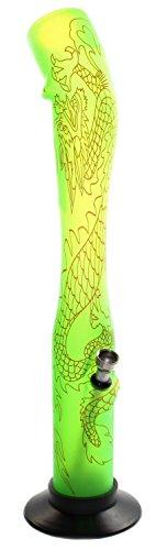 budawi® - Acrylbong Drache H: 40 cm/Ø 50mm, Alu Flutschkopf mit Schraub Chillum, Wasserpfeife