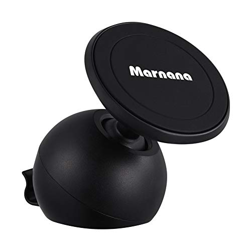 Magnetic Car Phone Holder, Marnana Universal Stick-on Dashboard Car Phone/GPS Mount, Super Strong Magnet 360 Rotation Cell Phone Holder Compatible with iPhone Samsung Sony Nexus Light Tablet and More