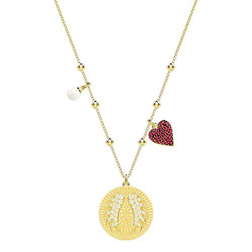Swarovski Lucky Goddess Wings Halskette, Mehrfarbig, Vergoldet